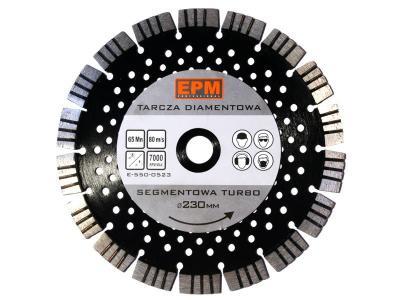 Tarcza diamentowa segmentowa turbo z otworami chłodzą. 230mm