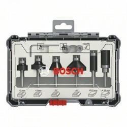 Zestaw frezów 6 szt. trim&edging uchwyt 6mm