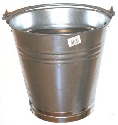 Wiadro z blachy ocynkowanej 10 litrów