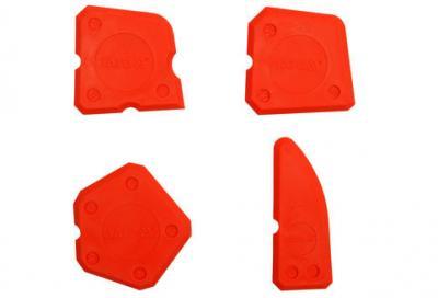 Zestaw szpachelek do silikonu 4 części