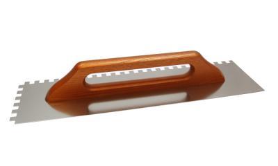 Paca nierdzewna rękojeść drewniana 130*480mm ząb 8