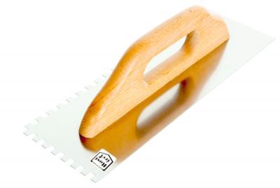 Paca nierdzewna zębata uchwyt drewniany 380*130mm ząb 6*6