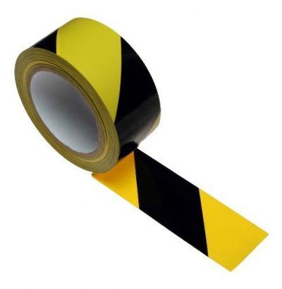 Taśma ostrzegawcza żółto-czarna samoprzylepna 48*25m