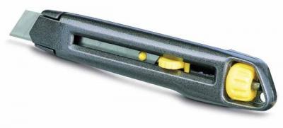 Nożyk metalowy lekki interlock, ostrze łamane 18mm [k]