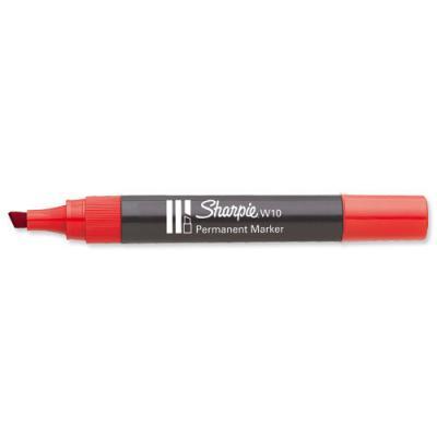 Marker ścięty czerwony w10 1.5-5.0mm