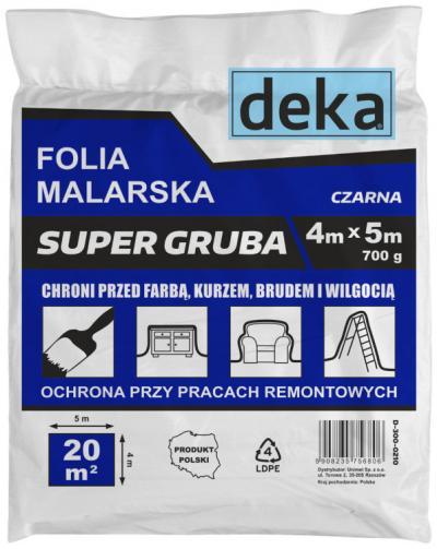 Folia malarska super gruba czarna 4*5m 700g