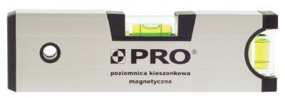 Poziomica anodowana z magnesem kieszonkowa 17cm