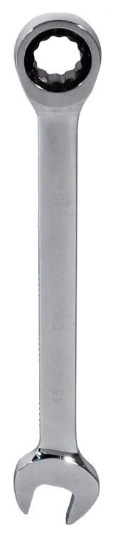 Klucz płasko-oczkowy z grzechotką crv 19