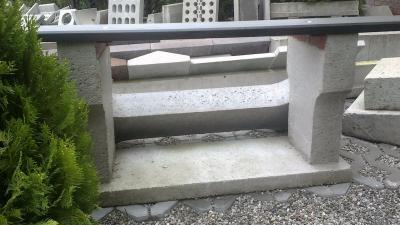 Betonowy element ławki 108x10x30