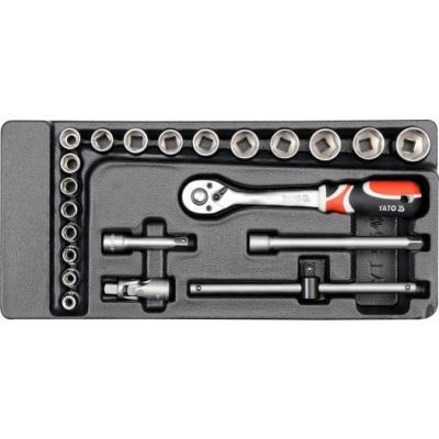 Wkład do szuflady zestaw kluczy nasadowych 3/8'''' 22 części