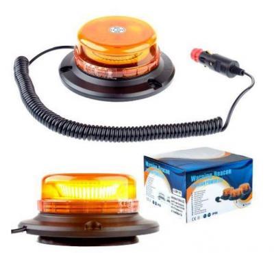 Lampa ostrzegawcza obrotowa - magnes wl400 3w led mocna