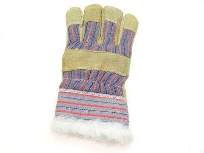 Rękawice z dwoiny + tkanina ocieplane 203, rso