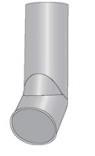 Rura z wylotem ocynkowana 120mm 1mb