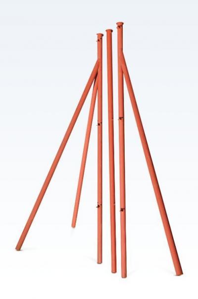 Słupek ogrodzeniowy rura fi 42mm 2mm 2/1.25m