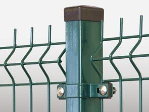 Słupek do ogrodzenia zielony 2000mm 60*40*1.25mm
