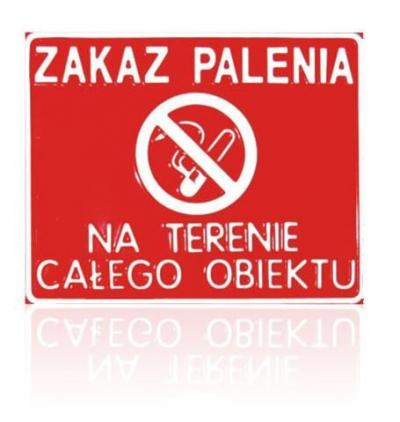 Tablica 23*29cm zakaz palenia na terenie całego obiektu